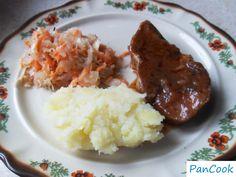 Pieczeń wieprzowa duszona na czerwonym winie/Roast pork braised in red wine