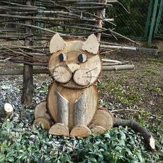 This is your summer house and you are the # Cats main sculptor .-Dies ist dein Sommerhaus und du bist das # Cats Hauptbildhaus Poppy's Holz – katzen This is your summer house and you are the # Cats main picture house Poppys Holz - Wood Log Crafts, Wood Slice Crafts, Diy Wood Projects, Easy Projects, Wood Cat, Wood Animal, Wood Logs, Christmas Wood, Christmas Crafts