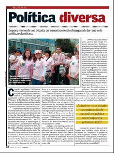 Artículo sobre la participación de las minorías sexuales en la política colombiana.