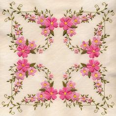 8x8 inch Floral Quilt 3 - Elsas Designs   OregonPatchWorks