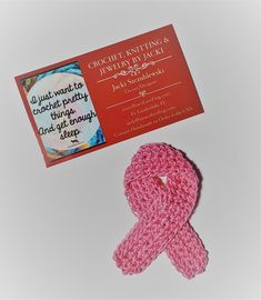 Crochet breast cancer awareness pink ribbon pin lapel pin | Etsy Paper Cover, Breast Cancer Awareness, Lapel Pins, Peace And Love, Color Patterns, Pink Stuff, Crochet, Handmade, Ribbon