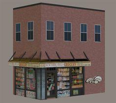 3d model the 3d bodega store building model for poser and daz studio