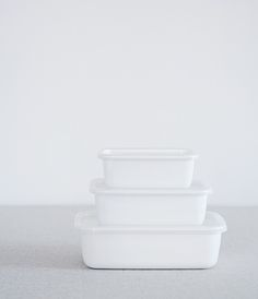 noda horo | enamel containers. go straight from the fridge to the oven or stovetop.