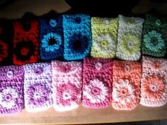 Crocheted Cell phone holders