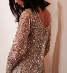 Beaded Mini Dress by Naeem Khan