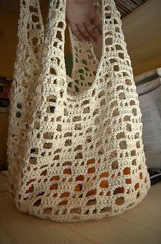 Crochet Shopping Bag | mercerized natural cotton. finished a… | Flickr