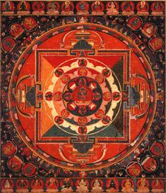 Buddhakapala Mandala Central Tibet, 14th century  63.5 x 54.4 cm