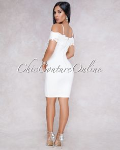 Chic Couture Online - Rhada Off White Embroidery Accent V- Neck Dress, (http://www.chiccoutureonline.com/rhada-off-white-embroidery-accent-v-neck-dress/)