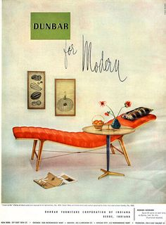 Dunbar For Modern LISTEN-TO-ME CHAISE Mid-Century Modern 1951 MAGAZINE AD