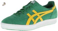 Onitsuka Tiger Vickka Moscow Fashion Shoe,Green/Yellow,4 M US - Onitsuka tiger for women (*Amazon Partner-Link)