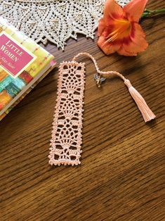 Crochet Bookmark Bookmarks with Angel Charm Book Club image 3 Crochet Bra, Thread Crochet, Crochet Gifts, Crochet Clothes, Crochet Stitches, Crochet Bookmark Pattern, Crochet Bookmarks, Tassel Bookmark, Knitting Patterns
