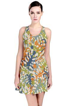 summer tropical leaves Reversible Sleeveless Dress, tropical #leaves #pattern #dress #fashion