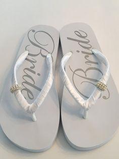 1a4ef7a0a0955 Items similar to WEDDING Flip Flops !Bridal Flip Flops.Bridal Shoes.Wedding  Sandals.Wedding Shoes.Bridal Sandals.White Wedding Shoes.Bride Shoes.