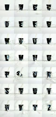 milk font alphabet