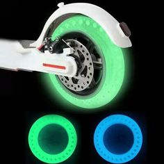 For Xiaomi Scooter Luminous Fluorescent Hollow Solid Wheel Tyre Tires Scooter Storage, Free Tire, Scooter Wheels, Tyre Fitting, Luminous Colours, Rubber Tires, Electric Scooter, Ebay, Free Shipping
