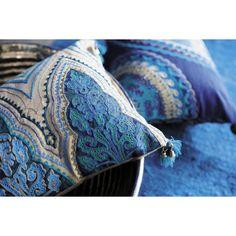 2 Baumwollkissen JODHPUR im indischen Stil, 30 x 45 cm und 33 x 43 cm, blau | Maisons du Monde