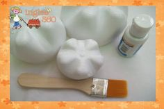 can't find the info on the blog but... get the 20 oz plastic soda bottles, spray white, arrange like teeth with hot glue gun and demonstrate, toothbrushing and flossing!