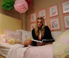 Adorable dorm room at Ole Miss! So cute!! @Madeline Fox N. get it girl