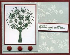 Stamp of the Month November 2011 Card 1 - Great Impressions Rubber Stamps Diy Cards Stamps, Diy Holiday Cards, Diy Gifts, Snowflakes, November, Frame, Gallery, November Born, Picture Frame