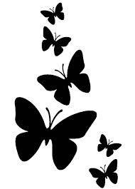 stencil plantillas de mariposas - Buscar con Google