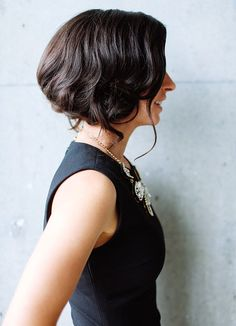 Holiday party hair -- love this faux bob!