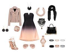 """Sukienka ombre"" by mirela-ce on Polyvore featuring moda, Halston Heritage, IRO, Madden Girl, Tartesia, Dolce&Gabbana, Astley Clarke, Chanel, Michael Kors i Ray-Ban"