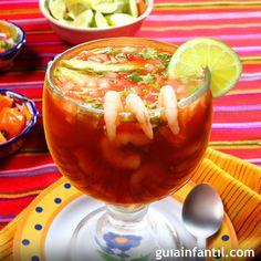 Cotel de camarón. Receta mexicana.