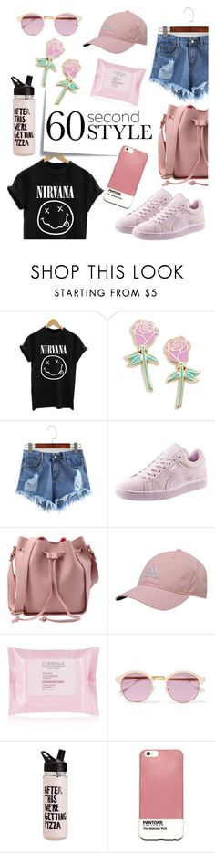 """""""Who is that girl?!"""" by tamarabellis ❤ liked on Polyvore featuring Post-It, Big Bud Press, Puma, adidas, Sheriff&Cherry, ban.do, Case Scenario, summercamp and 60secondstyle"""