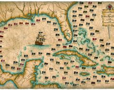 Pirate Map Tapestry