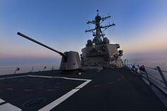 US Navy's Arleigh Burke-class guided-missile destroyer USS Porter (DDG 78) entered the Black Sea, July 5, 2015, to promote peace and stability in the region. Porter's presence in the Black Sea will serve to reaffirm the U.S. dedication and commitment toward strengthening the partnerships and joint operational capabilities amongst U.S., NATO and regional Black Sea partners. Porter entered the Black Sea in support of Operation Atlantic Resolve.