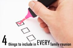 Planning a family reunion does not have to be hard! Click here to discover 4 essential things every family reunion should include. (And lots more family reunion planning tips, ideas and activities!) http://www.family-reunion-success.com/planning-a-family-reunion.html