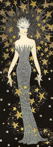 1985 Erte (Romain de Tirtoff; Russian/French; 1892-1990) ~ 'Star Struck'