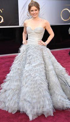 Amy Adams in an Oscar de la Renta gown at The Academy Awards 2013