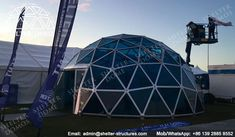Glass domes for sale - PC domes for events - Geodesic domes with polycarbonate panels - Geodesic dome houses - Greenhouse domes for sale - Shelter Dome (3)