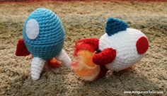Easter Egg Rocket With and Without the Egg, Amigurumi To Go by Sharon Ojala  Grátis, inglês/ Free pattern, English.