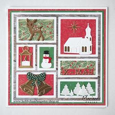 45 Ideas Design Layout Card Stampin Up Christmas Cards 2018, Xmas Cards, Christmas Diy, Book Design, Layout Design, Marianne Design Cards, 3d Cards, New Year Card, Foam Crafts