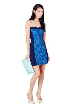 Strapless panel dress goes from day to night! #showstopper #justfabapparel