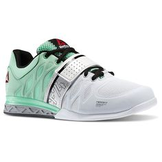 NEW Reebok CrossFit Lifter 2.0 Womens Powerlifting Shoes White Mint Green  M45397  Reebok  Weightlifting 62662cb39