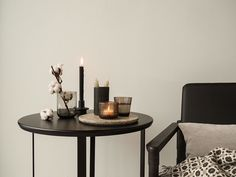 Karu of Nord Side Table Styling, Candle Holders, Dining Table, Candles, Led, Style Inspiration, Interior Design, Product Design, Winter