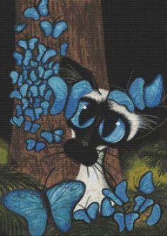Siamese Cat Cross Stitch Cat Cross Stitch 'Siamese by GeckoRouge