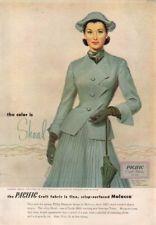 1952 Pacific Craft Fabrics Philip Mangone Dress Women's 50's Fashion Schwinn Ad