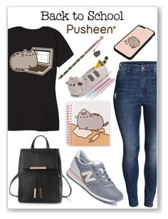 """#PVxPusheen"" by ririmar ❤ liked on Polyvore featuring Pusheen, H&M, New Balance, contestentry and PVxPusheen"