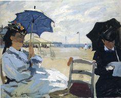 The Beach at Trouville - Claude Monet