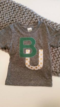 BU Baylor Bears college tee, toddler or adult