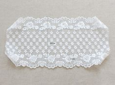 wide embroidered mesh lace 1yard width 14.7 cm por cottonholic