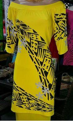 Samoan Dress, Island Style Clothing, Different Dress Styles, Island Wear, Culture Clothing, Queen Fashion, Hawaiian Dresses, Dress Patterns, Polynesian Tribal