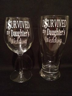 I Survived My Daughter's Wedding, Funny Parent Gift for Mother & Father of the Bride or Groom on Etsy, $27.00