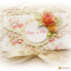 Kartka na ślub pamiątka - Scrapbooking - Papier