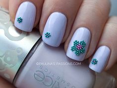 Beautiful caviar nails with pretty flowers using MUA Nail Constellation beads. Big pink and blue caviar flower on the ring finger, as an accent nail. Caviar Nails, Flower Nail Designs, Floral Nail Art, Manicure Y Pedicure, Accent Nails, Flower Nails, Toe Nails, Pretty Flowers, Hair And Nails