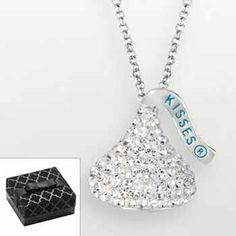 Hersheys kiss sterling silver crystal pendant made with swarovski hersheys kiss sterling silver crystal pendant made with swarovski elements kohls cute necklace pinterest swarovski kiss and sterling silver mozeypictures Image collections